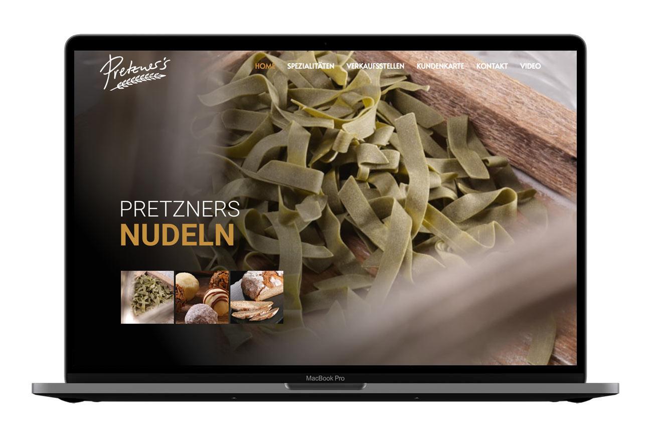 Bäckerei Pretzner Webdesign