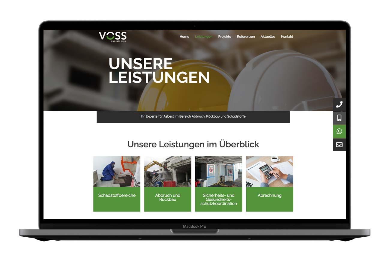 Voss Engineering Webdesign