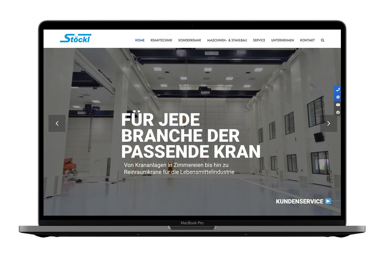 Stöckl Maschinenbau Webdesign