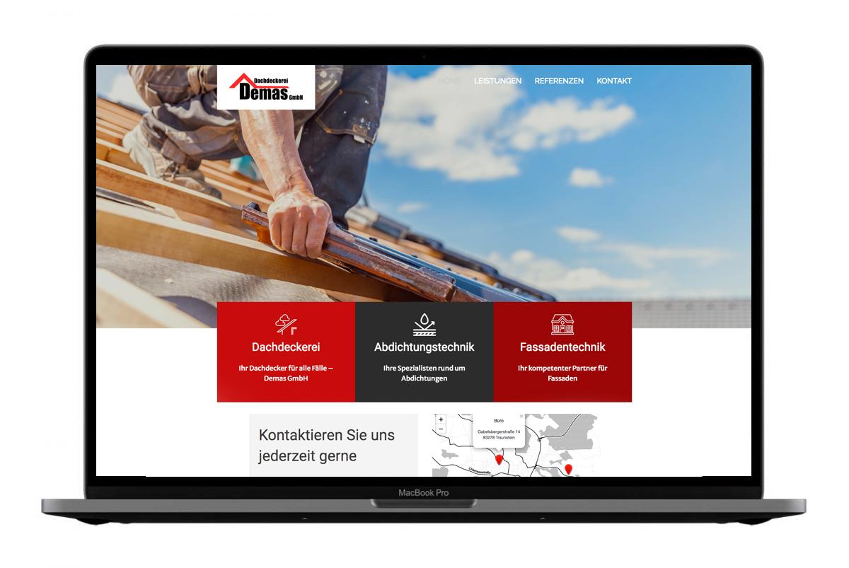 Dachdeckerei Demas Website